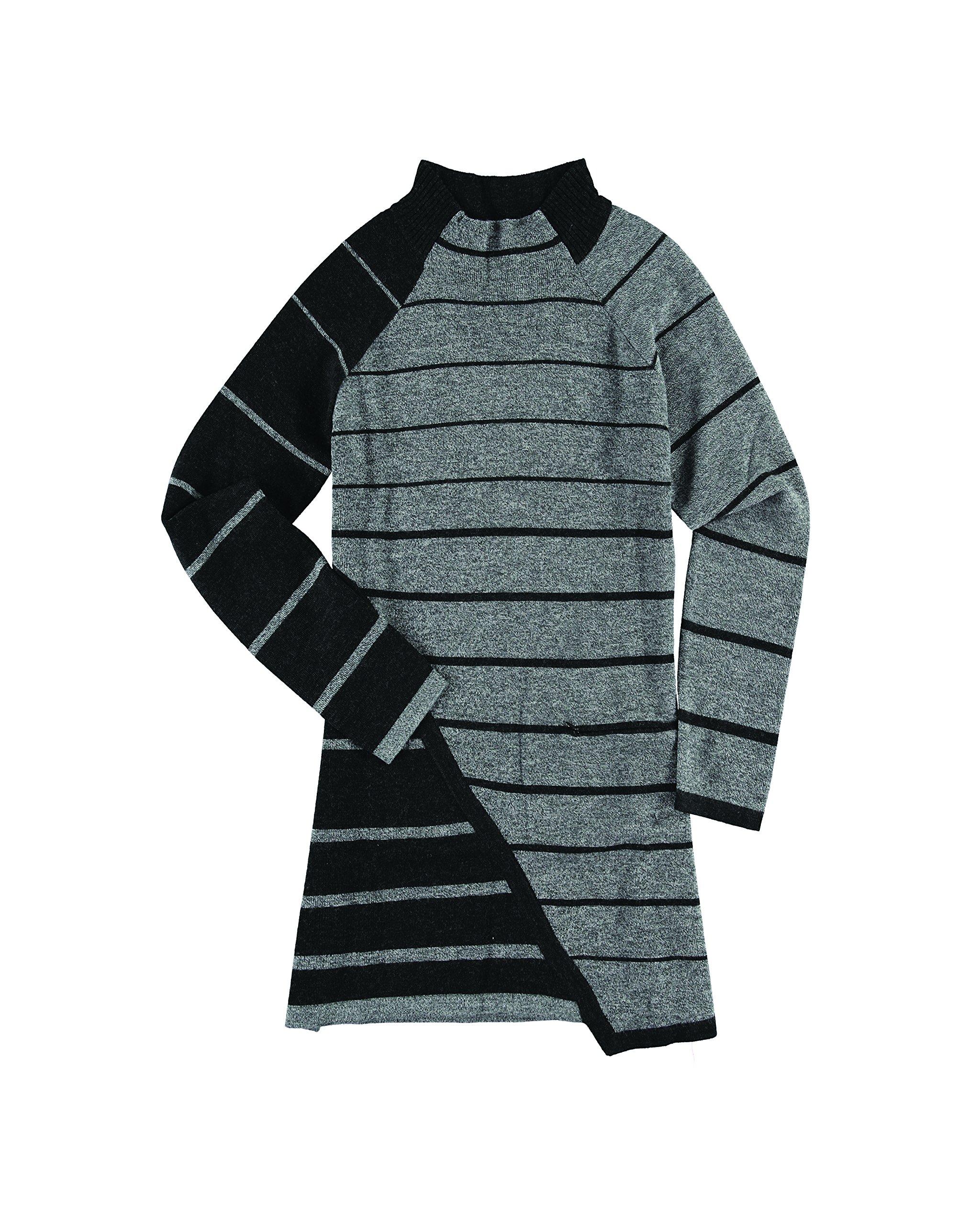Krimson Klover Penelope Asymmetrical Striped Tunic - ( Heather Black, X-Small ) by Krimson Klover