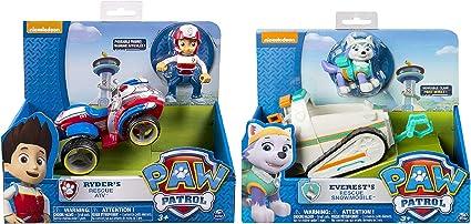 Nouveau Nickelodeon Paw Patrol Mighty Pups Super Paws Ryder Métal Mini Figure ATV