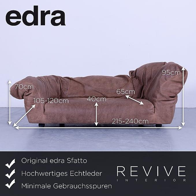 Edra sfatto Diseñador Sofá marrón anilina piel by Francesco ...