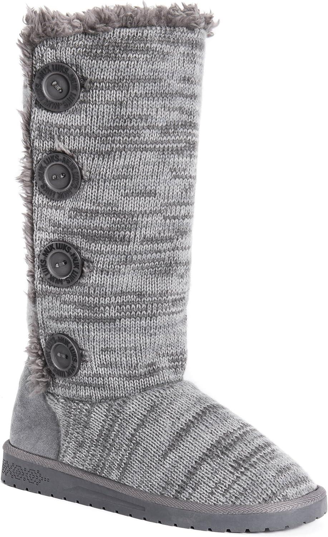 MUK LUKS Womens Liza Boots-Black Fashion