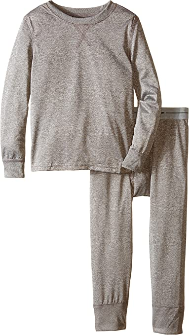 Fruit of the Loom Boys Thermal Underwear Set Top and Bottom Gray Size XS 4-5