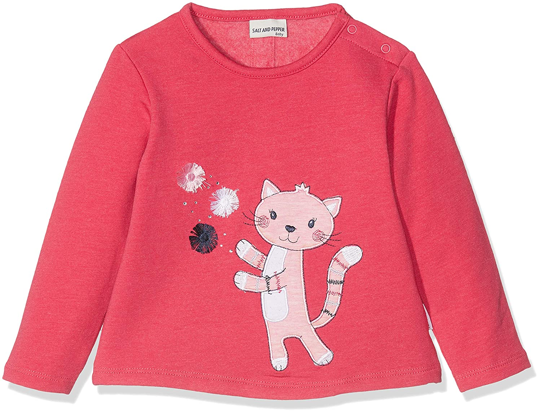 Salt & Pepper Baby Girls' B Sweat Mon Amie Katze Sweatshirt SALT AND PEPPER 85211240