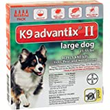 Bayer K9 Advantix II, Flea And Tick Control Treatment, 4 to 10 lbs for Dogs