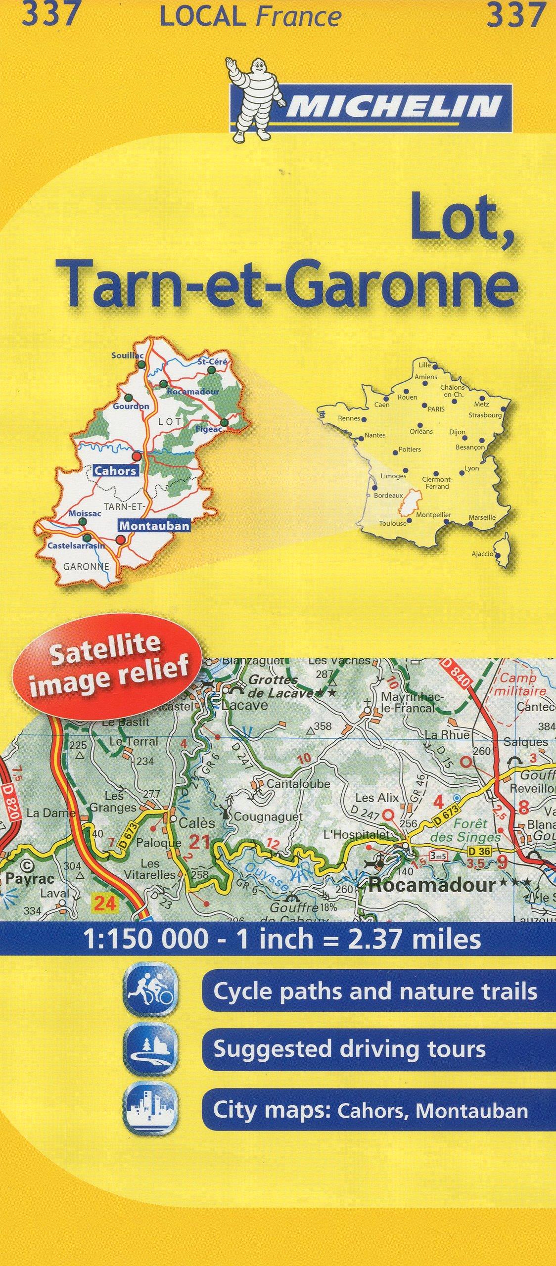 Map Of Lot France.Michelin Map France Lot Tarn Et Garonne 337 Maps Local