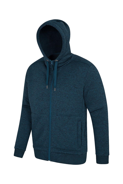 Soft Fleece Sweatshirt for Spring Walking /& Jogging Adjustable Hood /& Front Pockets Zip Up Hood Comfortable Warm Mountain Warehouse Nevis Mens Fur Lined Hoodie