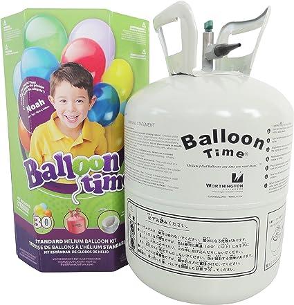 Balloon Time helium kit with 30 balloons (50 balloon kit)