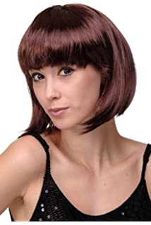WIG ME UP ® - Peluca corta de pelo bob color marrón castaño fiesta disco GO