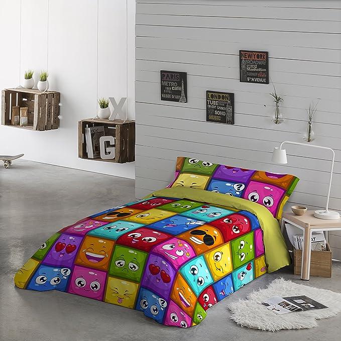 NATURALS Funda nordica 2 pcs para Cama cms d. Hello, 100% algodón, Multicolor, Camas de 90: Amazon.es: Hogar