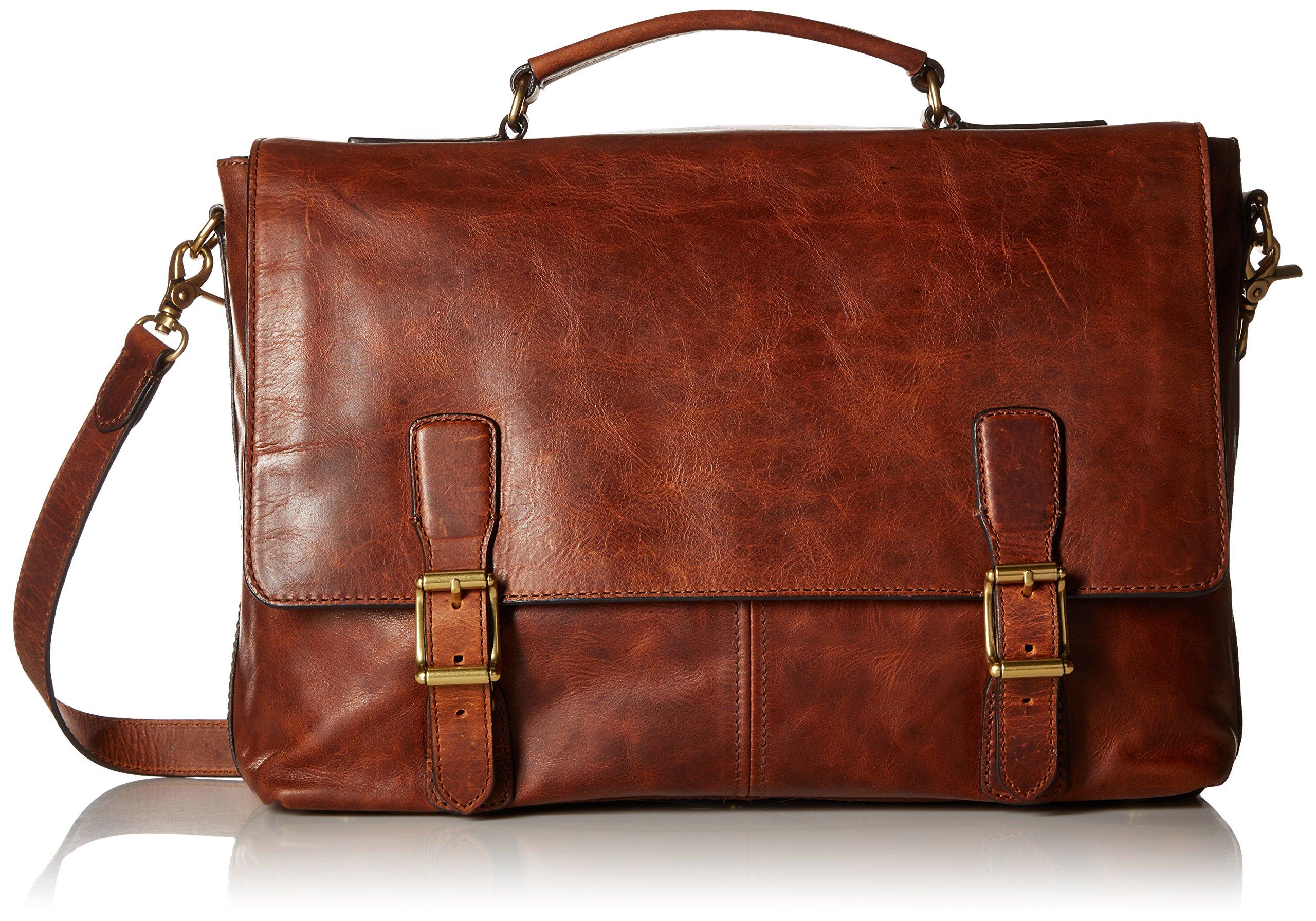 FRYE Men's Logan Top Handle Messenger Bag, Cognac, One Size,Standard