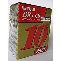 Fuji DR-I Audio Cassettes Extra Slim Case 10 Pack