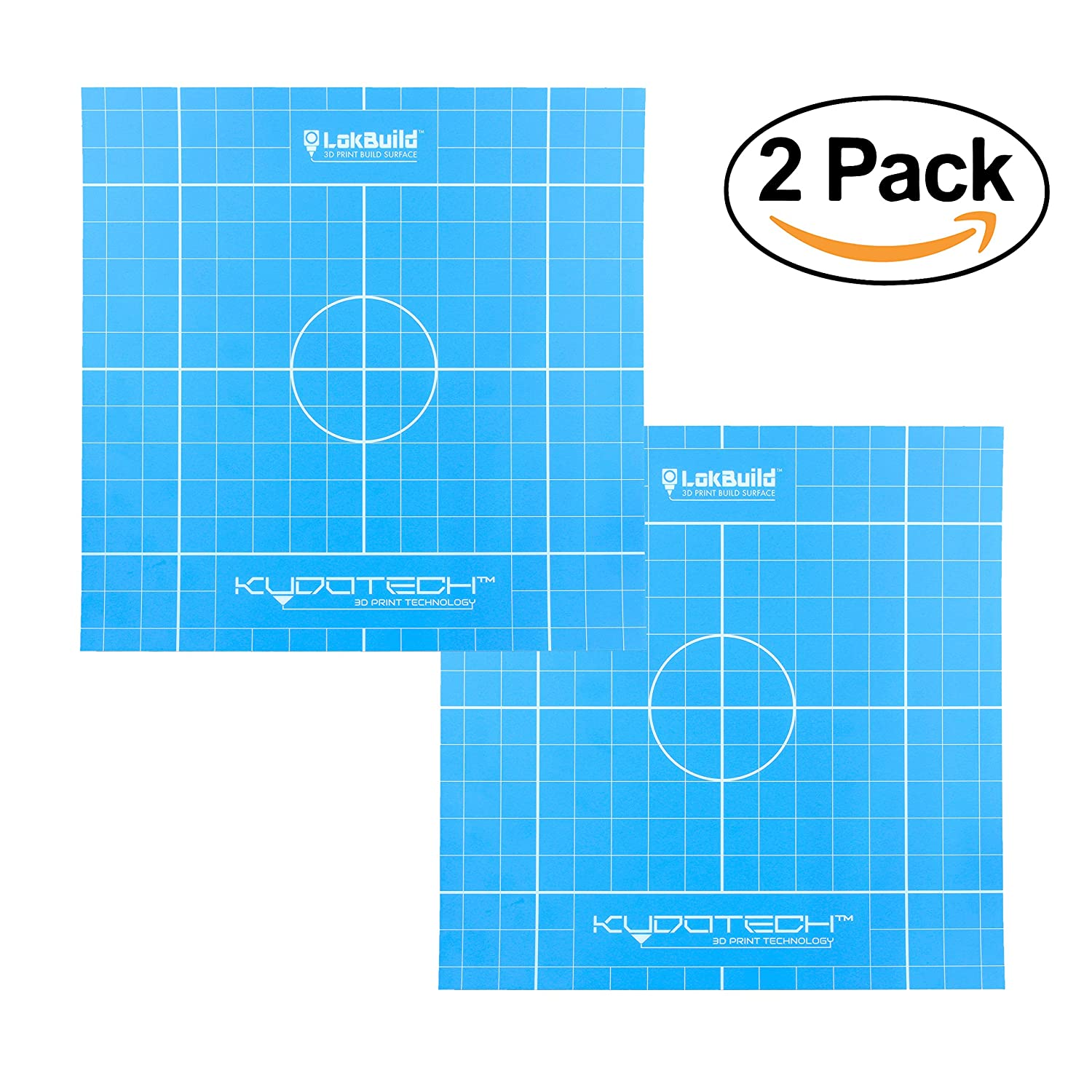 LokBuild 3D Print Build Surface, sticky back sheet, quick, clean removal of printed parts, versatile (TWIN PACK 6' (153x153mm)) versatile (TWIN PACK 6 (153x153mm))