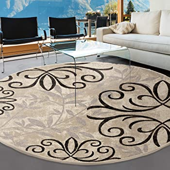Better homes gardens 63 x 90 iron fleur - Better homes and gardens iron fleur area rug ...
