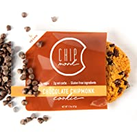 ChipMonk Cookies - Healthy, Low Carb, Keto, All-Natural & Gluten-Free Desserts & Snack Foods (Chocolate ChipMonk, 4 cookies)