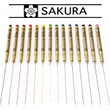 Sakura Pigma Micron - Colour Pigment Fineliners - Set of 14 - 0.5mm