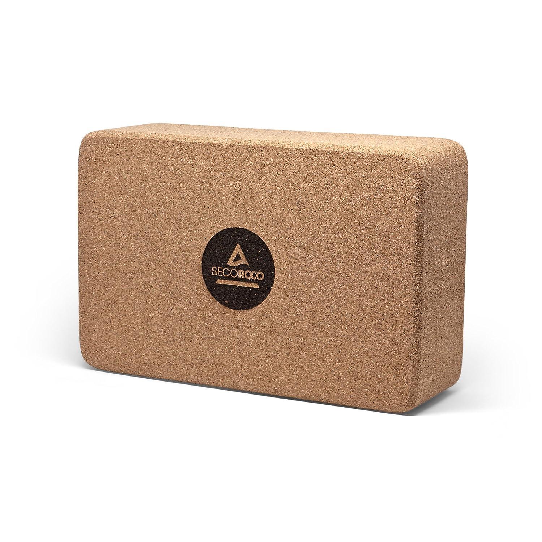 Biologisch abbaubar und recyclingf/ähig Secoroco Yogablock aus 100/% nat/ürlichem Kork Abgerundete Kanten f/ür h/öchsten Komfort w/ährend der /Übungen Rutschfest f/ür einen optimalen Grip
