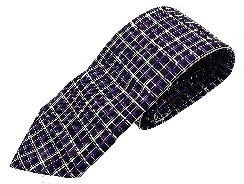 iAuctionShop - Corbata de Seda para Hombre, diseño Morado y Azul ...