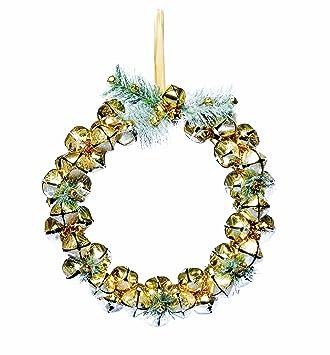 Christbaumkugeln Metall.Amazon De Festive Productions Weihnachtskranz Aus Christbaumkugeln