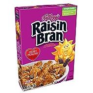 Kellogg's Raisin Bran, Breakfast Cereal, Excellent Source of Fiber, Bulk Size, 56.1 oz (Pack of 3, 18.7 oz Boxes)