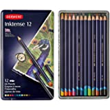 Derwent Colored Pencils, Drawing, Watercolor, Art, Inktense Ink Pencils, 12-Pack (0700928)