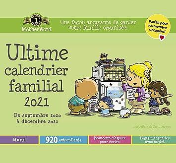 MotherWord Ultimate Family Wall Calendar, 16 Month, Sept 2020 Dec