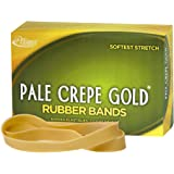 "Alliance Rubber 21075 Pale Crepe Gold Rubber Bands Size #107, 1 lb Box Contains Approx. 60 Bands (7"" x 5/8"", Golden Crepe)"