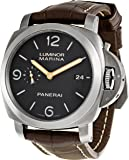 Panerai Men's PAM00351 Luminor Analog Automatic Black Dial Watch