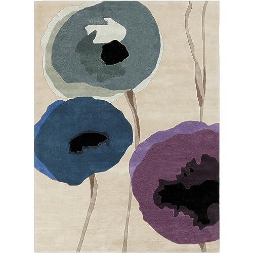 SURYA Area Rug, 5 x 8 , Olive Gray