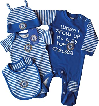 Brecrest Baby Boys Chelsea Fc Ch213 Striped Clothing Set Blue 6 9