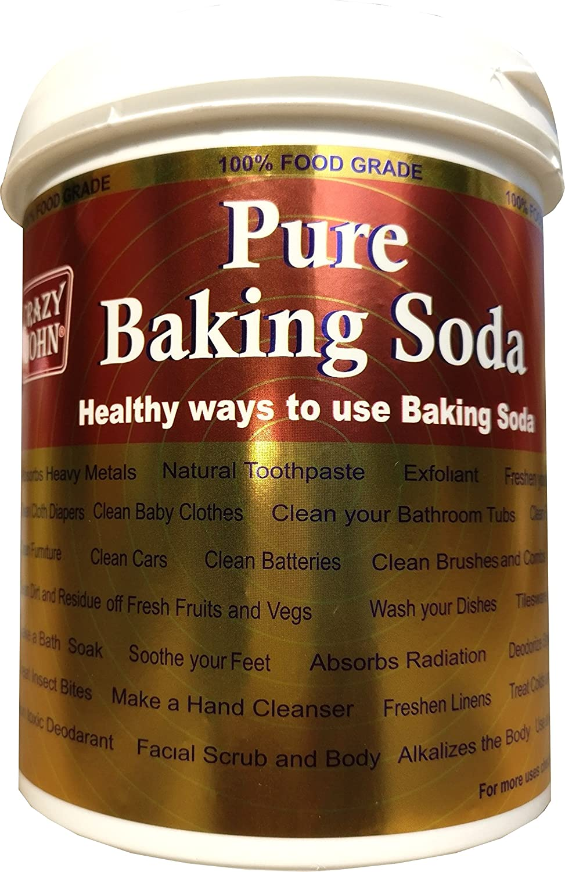 Crazy John Pure Baking Soda, Sodium Bicarbonate 1Kg Pack Plastic ...