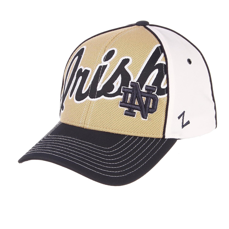 ZHATS NCAA Notre Dame Fighting Irish Herren Aufstandsm/ütze verstellbar Wei/ß//Marineblau