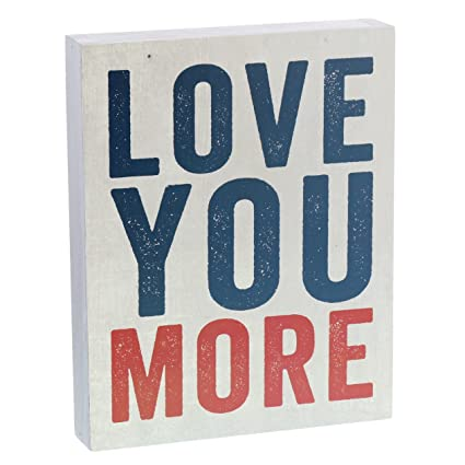 Amazon.com: Barnyard Designs Love You More Wooden Box Wall Art Sign ...