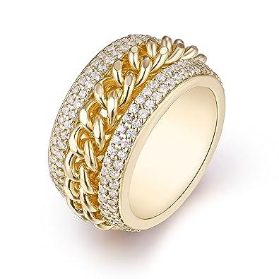 9a992c247 Barzel Gold Plated & Swarovski Elements Braid Statement Ring ...