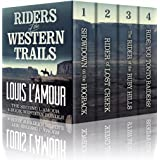RIDERS OF THE WESTERN TRAILS: : The Second Louis L'Amour 4 Book Western Bundle - Showdown On The Hogback, Rider Of Lost Creek