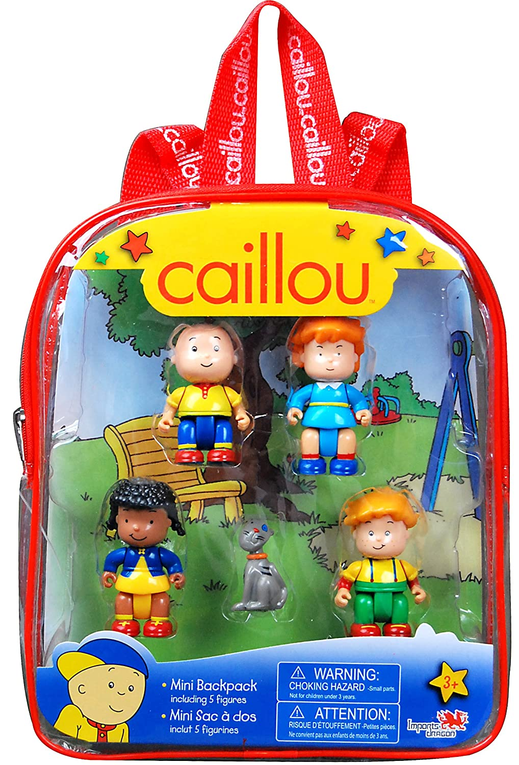 styles may vary Caillou Mini Backpack with Figures