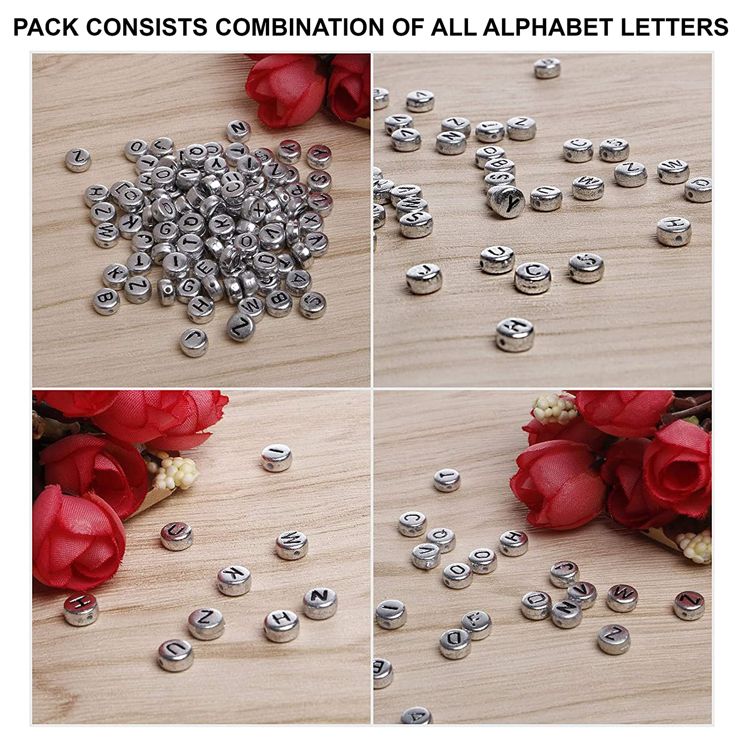 Beads Jewelry & Accessories Qualified Free Shipping 300pcs 6*6mm Big Hole Cube Acrylic Letter S Beads Gold Color Plastic Alphabet Spacer Beads Fit Ornament Bracelets