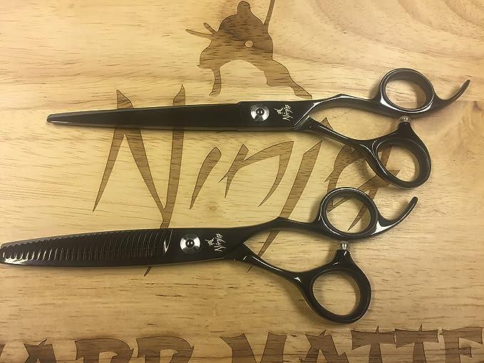 Ninja Ghost - Tijeras de peluquería profesionales: Amazon.es ...