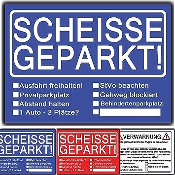 d10607ef04b7e3 Scheisse Geparkt lustiges Set aus 3 Blöcken Rot Blau ...