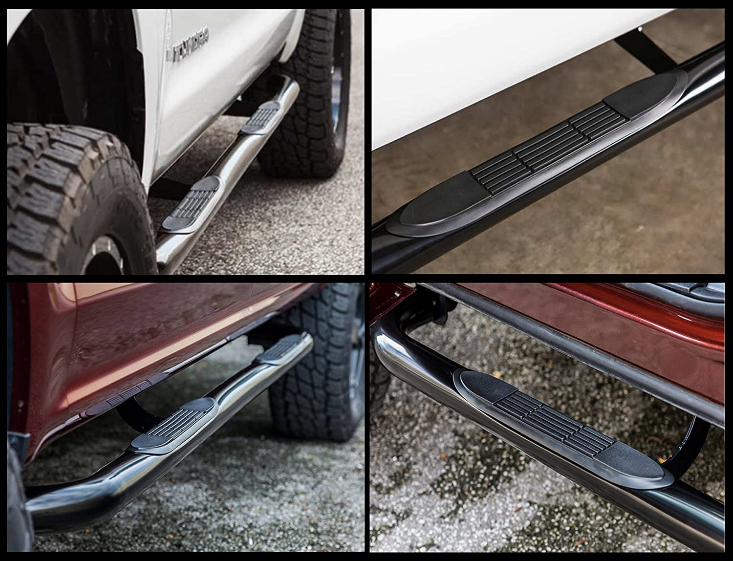 204500 2015-Up Chevy Colorado GMC Canyon Crew Cab Only Nerf Bars Side Steps Ionic 3 Black fits