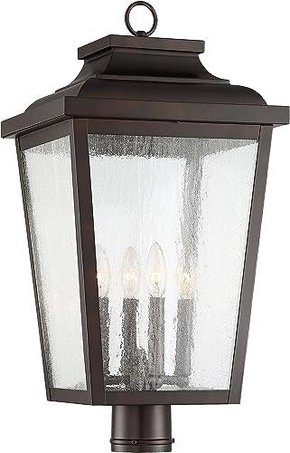Minka Lavery Outdoor Post Lights 72177-189 Irvington Manor Exterior Post Lantern, 4-Light 240 Watts, Chelesa Bronze