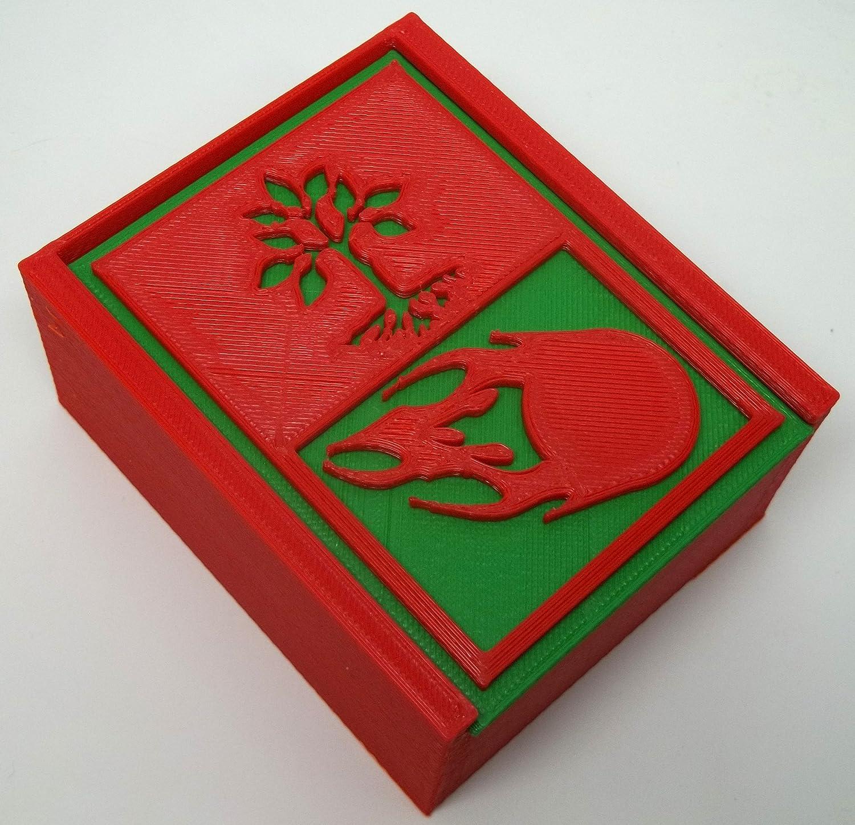 N23D Magic Box, 3D Printed, Green/Red Verde Caja de Regalo: Amazon ...