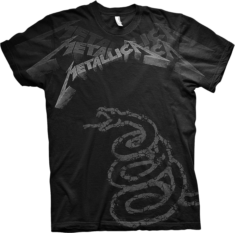 Metallica Black Album James Hetfield Rock Oficial Camiseta para Hombre: Amazon.es: Ropa y accesorios