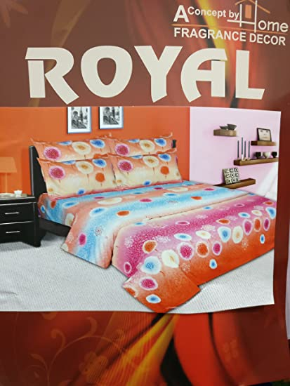 Buy Royal Home Decor Double Bed Bedsheet With 2 Pillow Covers Online At Low Prices In India