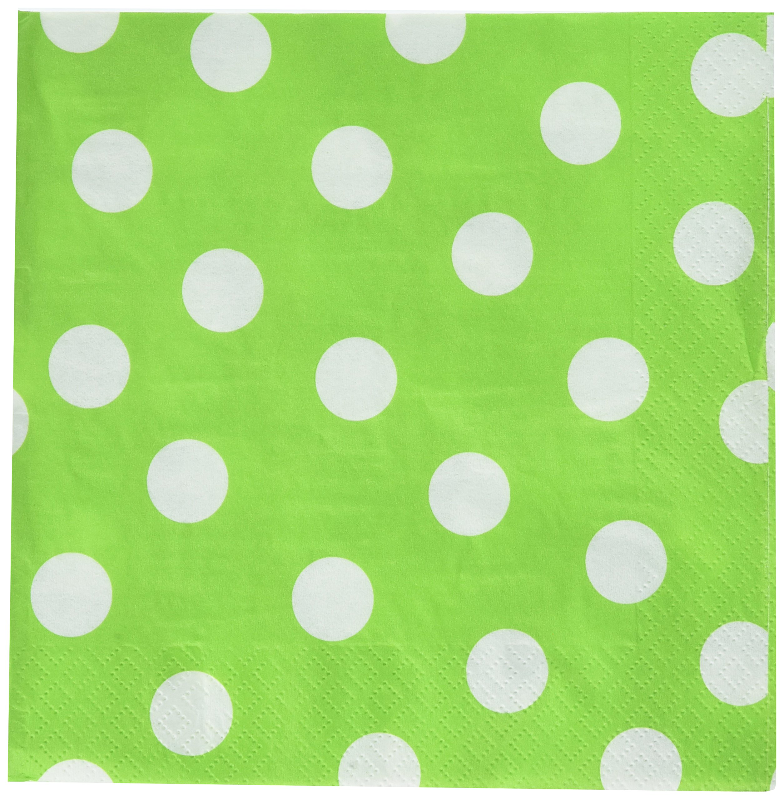 Amscan Luncheon Napkin Color Party Tableware, Saver Pack of 12 (Each Includes 16 Pieces), Made from Paper, Kiwi Green