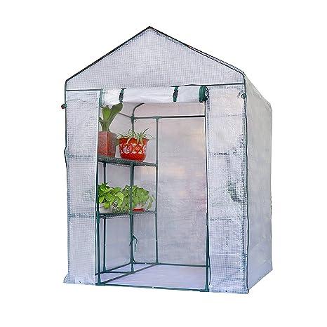 XH Gardenlife Invernadero de jardín de 3 Niveles con 8 estantes y Cubierta Impermeable Reforzada,
