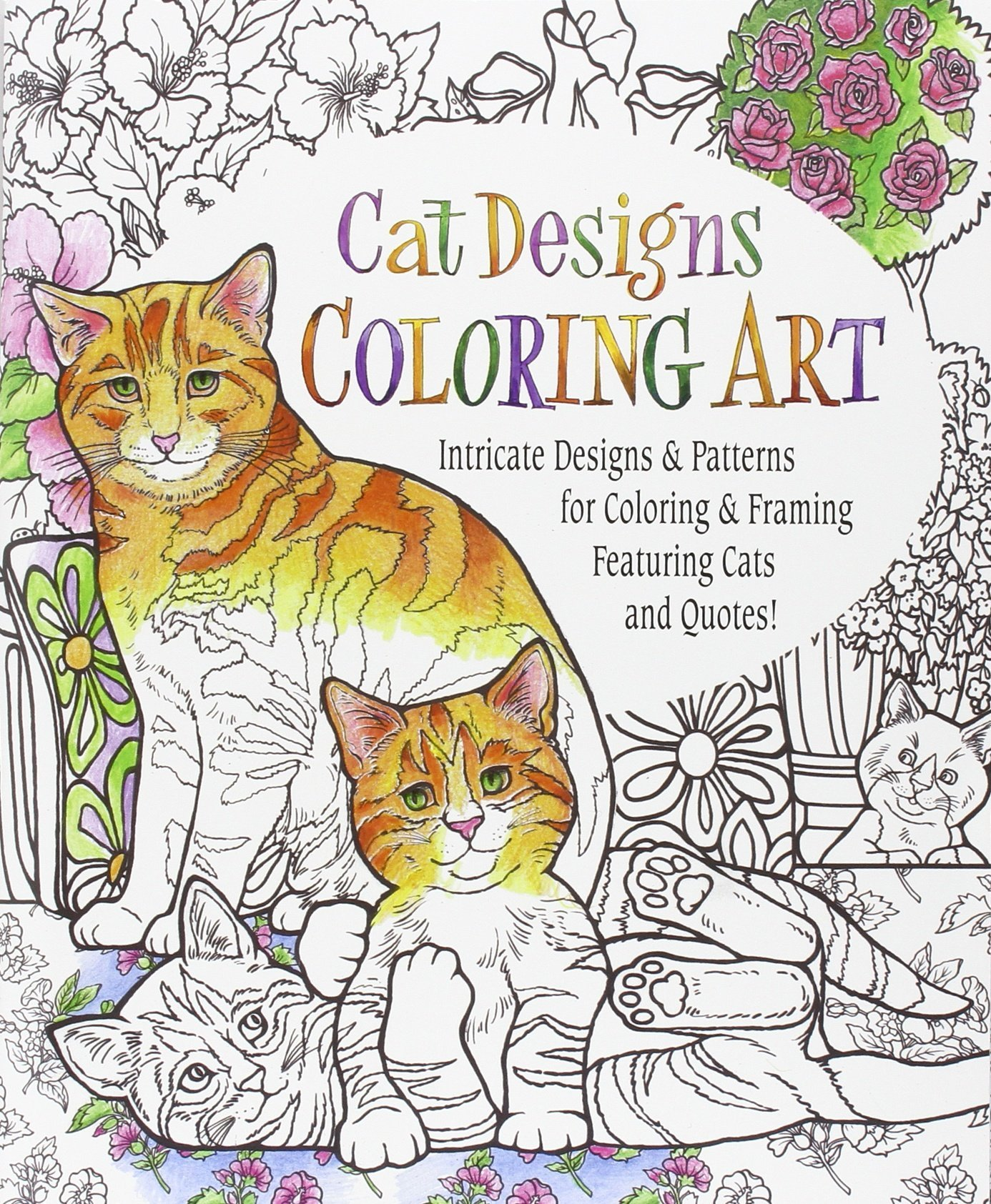Amazon Cat Designs Coloring Art 9780996386890 Inc Product Concept Mfg Books