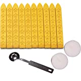 Aokbean 10pcs Colors Flower Antique Carved Wax Sealing Sticks for Retro Vintage Wax Seal Stamp without Wick (Gold)