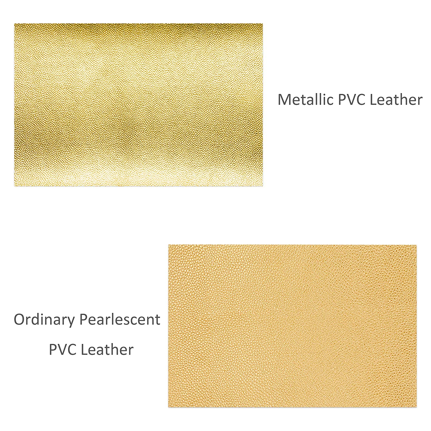 6 Metallic Colors PVC Leather Shiny Pearly Litchi Pattern Solid Color Fabric Faux Leather Sheets for Earrings Bows Jewelry DIY Craft Making 8 x 12