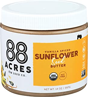 product image for 88 Acres, Vanilla Spice Sunflower Seed Butter Jar, 14 Ounce