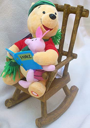 Pooh Reads It Was the Night Before Christmas with Piglet on a Rocking Chair Toy