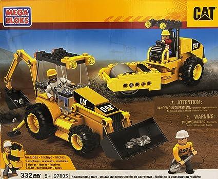Amazoncom Mega Bloks World Builders Cat Caterpillar Roadbuilding